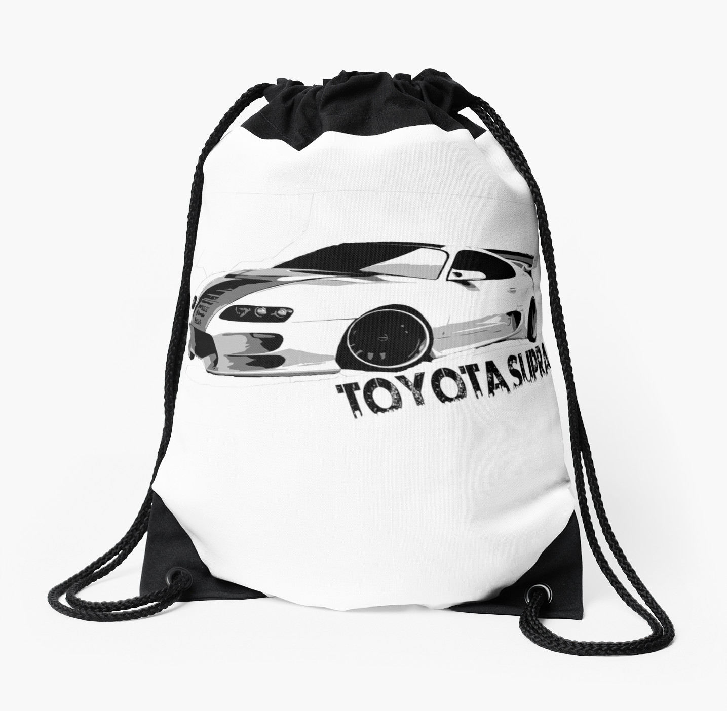 1435x1404 Toyota Supra Drawstring Bags By Leonchristo Redbubble
