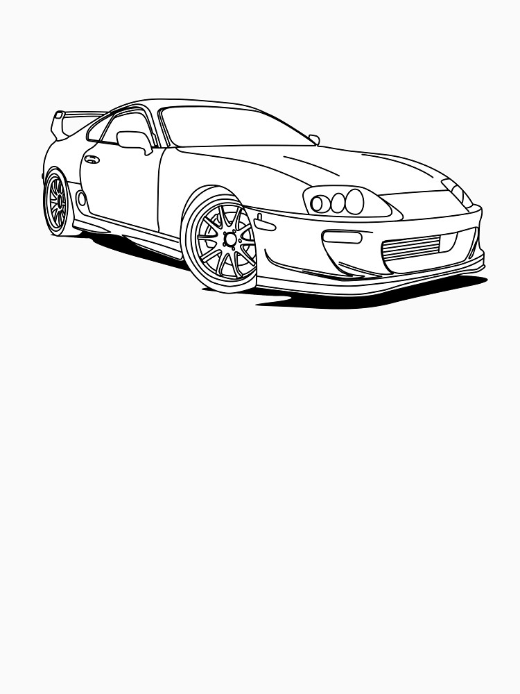 Toyota Supra Drawing At Getdrawings Com