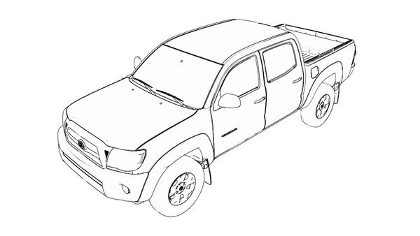 600x338 Toyota Tacoma Drawing Toyota Tacoma Driving On Smaller Spare