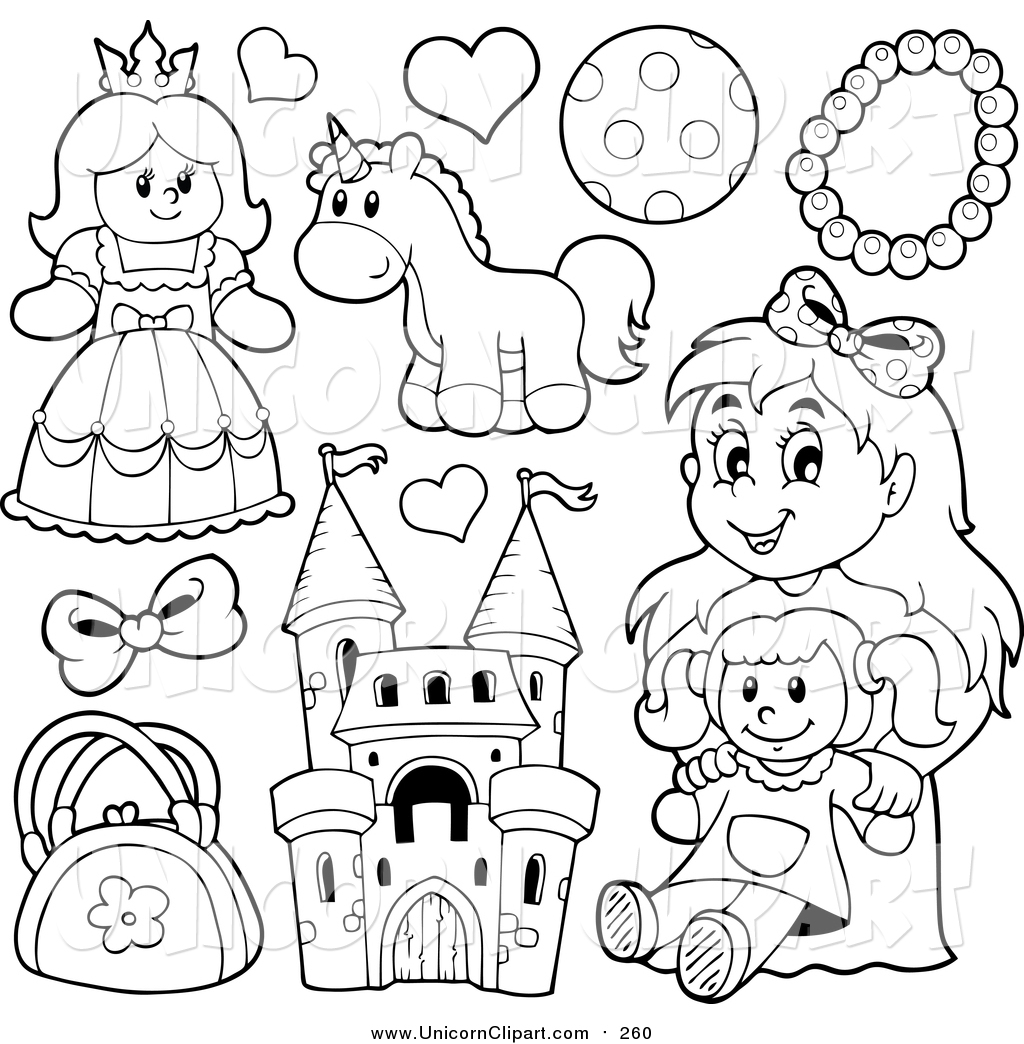 1024x1044 Fantasy Vector Clip Art Of Lineart Girls Toys By Visekart