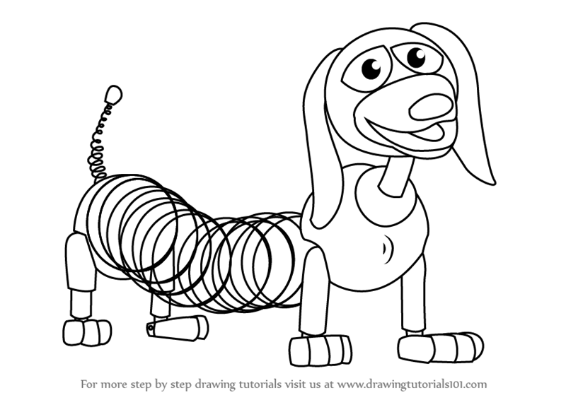 800x566 Learn How To Draw Slinky Dog From Toy Story (Toy Story) Step By