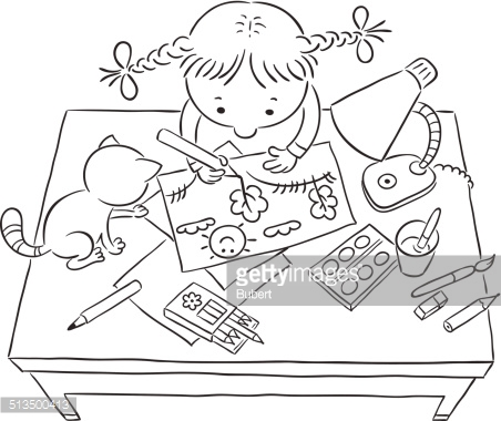 452x380 Coloring Book Drawing Of Children Playing