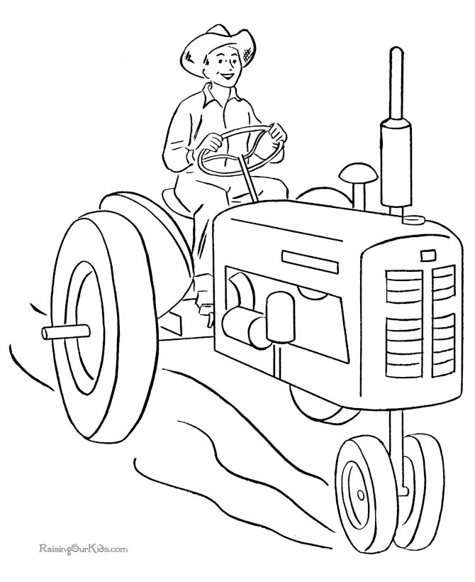 670x820 Drawn Tractor Coloring Book