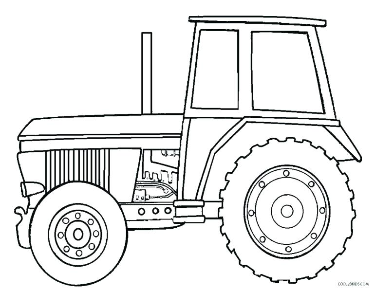 770x598 Classy Tractor Color Pages New John Coloring Pin Drawn Page 9 Free