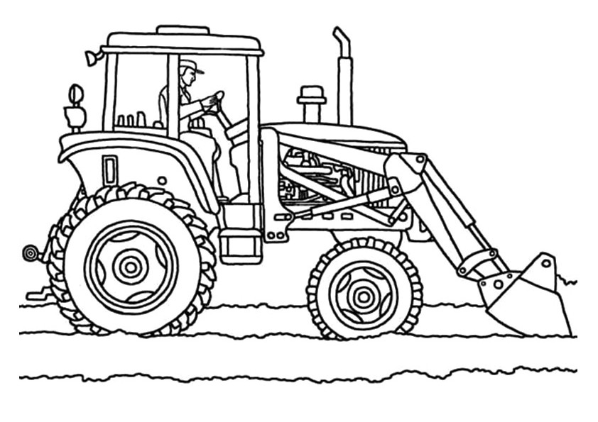 842x595 Printable Simple Tractor Coloring Pages Kids