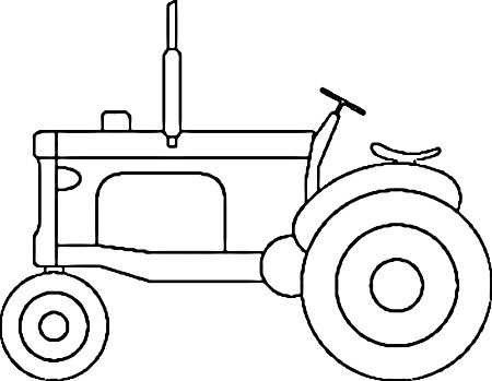 450x349 Simple Tractor Coloring Page