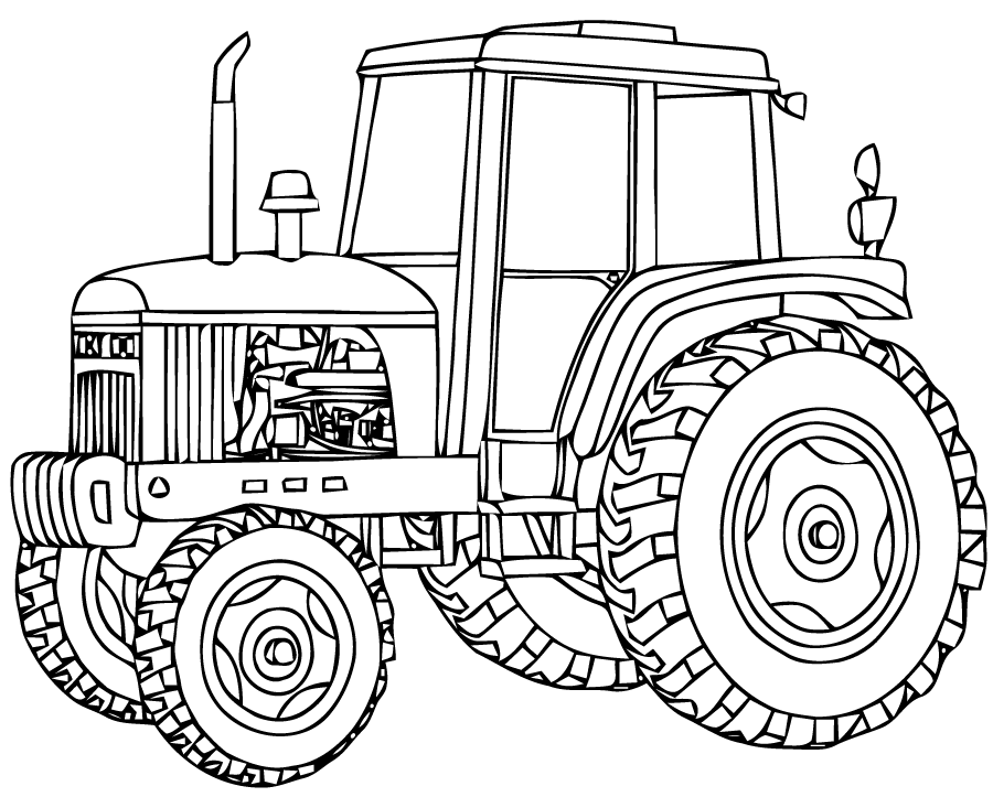 Tractor Drawing at GetDrawings.com | Free for personal use Tractor ...