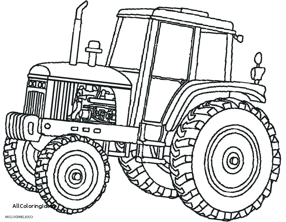 Tractor drawing at free for personal use for Johnny tractor coloring pages