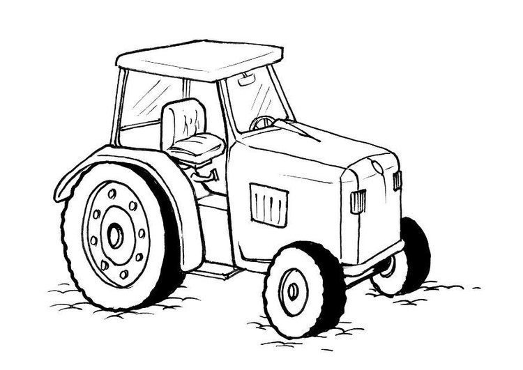 750x531 Coloring Page Tractor