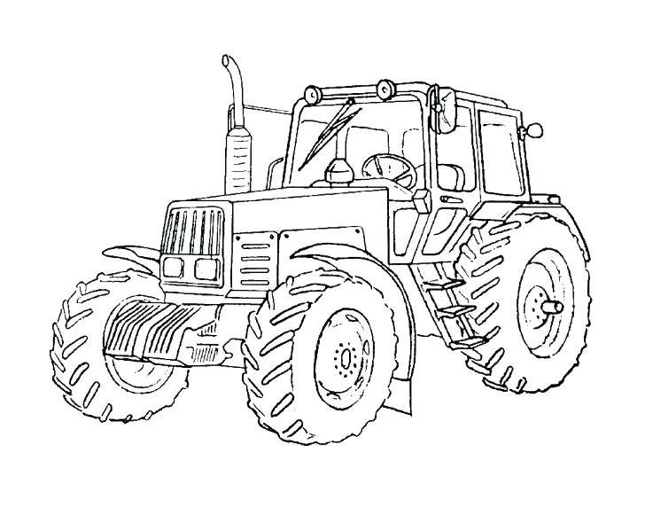 728x581 Best Tractor Coloring Page Online Free Pages John To Print