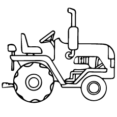 230x230 Coloring Pages Tractor Coloring Pages Free Printable For Kids