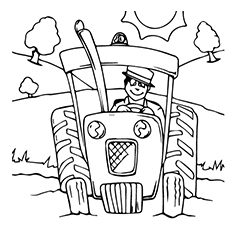 230x230 Top 25 Free Printable Tractor Coloring Pages Online