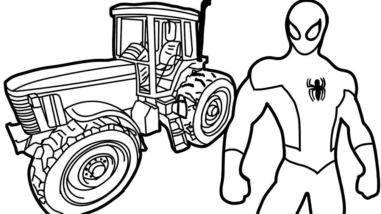 1280x720 Tractor Coloring Book 14309 Scott