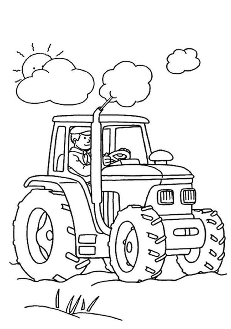 736x1050 Coloring Pictures Of Farm Tractors Tags Farm Coloring Pictures