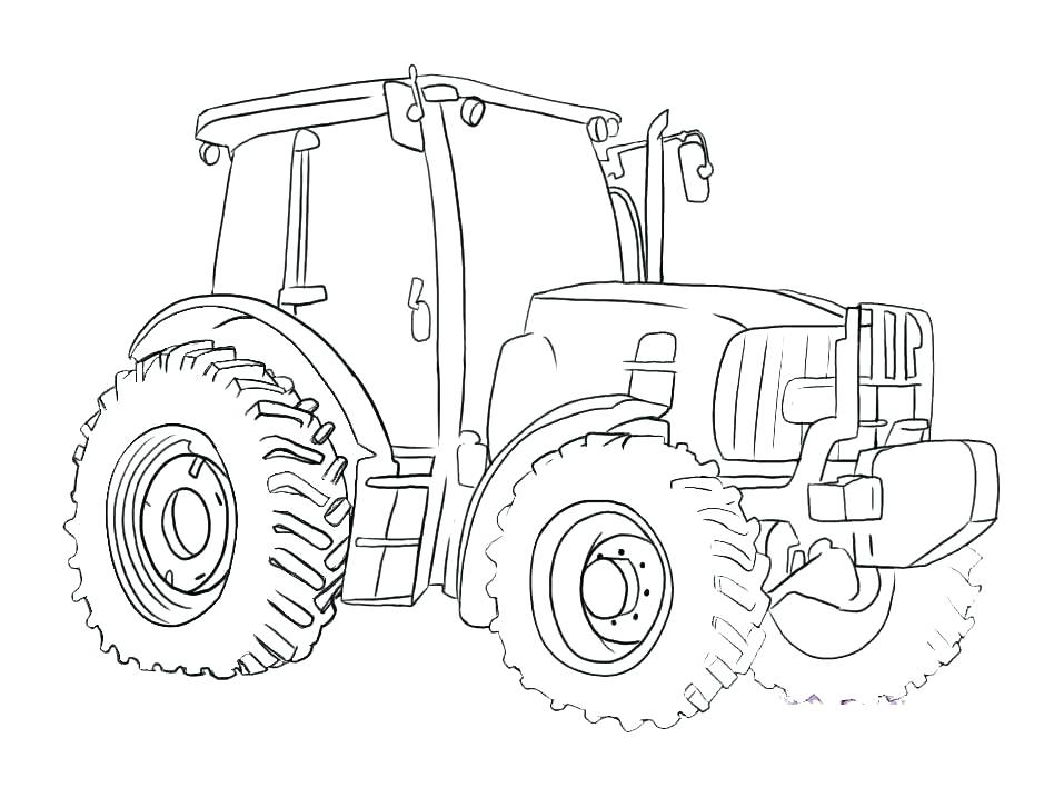 957x718 Tractor Coloring Pages Online Free Printable For Kids Best