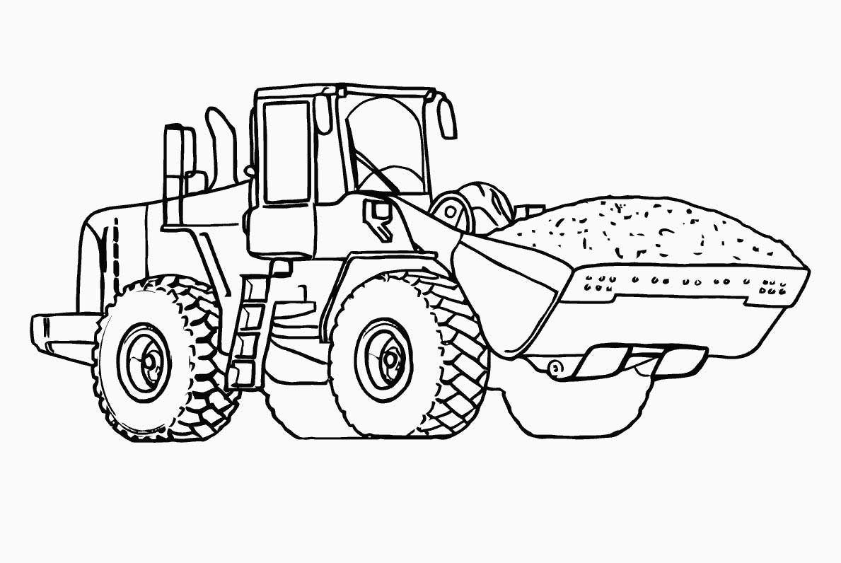 1189x796 Tractor Coloring Pages Spectacular Tractor Coloring Pages