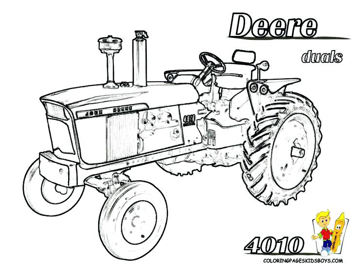 736x568 John Deere Tractor Coloring Pages To Print