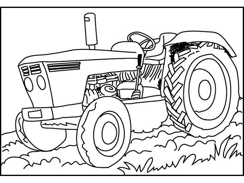 800x600 Tractor Coloring Pages Free Printable