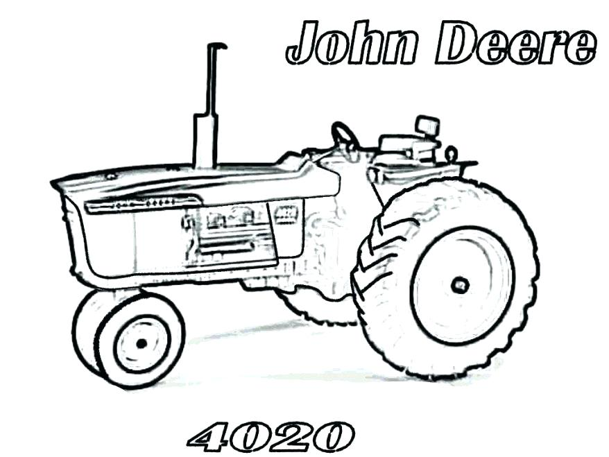Animated John Deere Tractor Outline : Tractor drawing outline at getdrawings free for