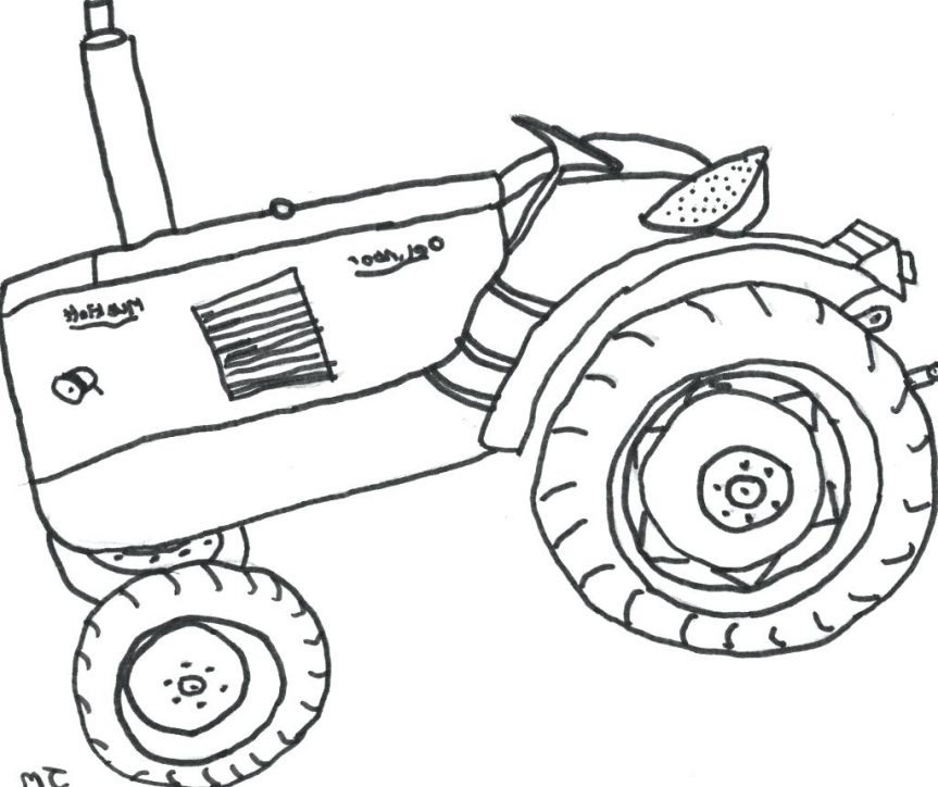 863x724 Picture Tractor Coloring Books Pages Online Easy Tom Free Kubota