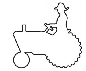 300x249 Riding A John Deer Tractor Outline Free Craft Patterns