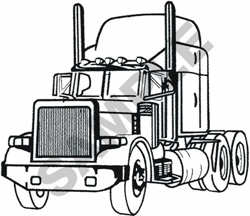 500x433 Semi Tractor Outline Embroidery Designs, Machine Embroidery