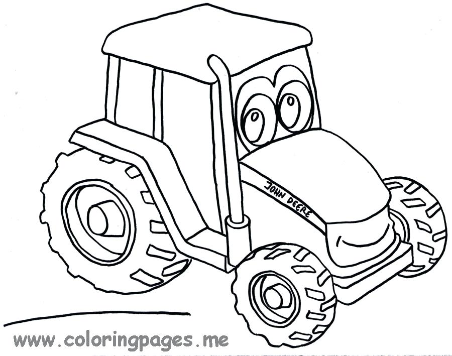 900x709 Tractor Color Page John Tractor Coloring Pages Momjunction Tractor