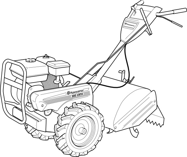 600x504 Walking Tractor Power Tiller Clip Art Free Vector In Open Office