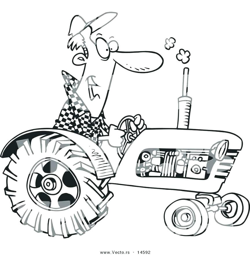 863x880 Coloring Pages Of Tractors