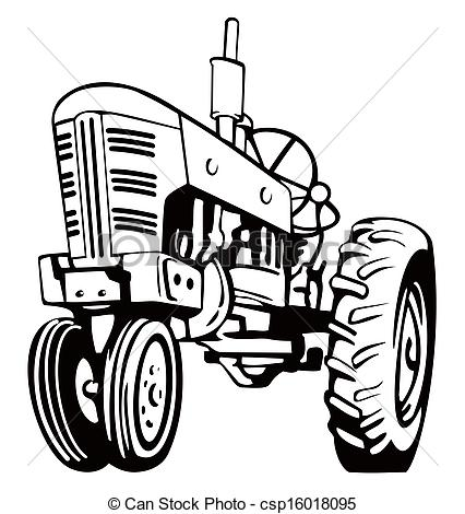 426x470 Tractor Black And White Clipart
