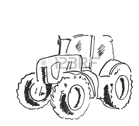Tractor Line Drawing