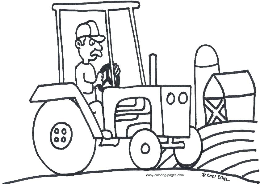 842x598 John Coloring Page Tractor Pages Free For A Printable Tractors Co