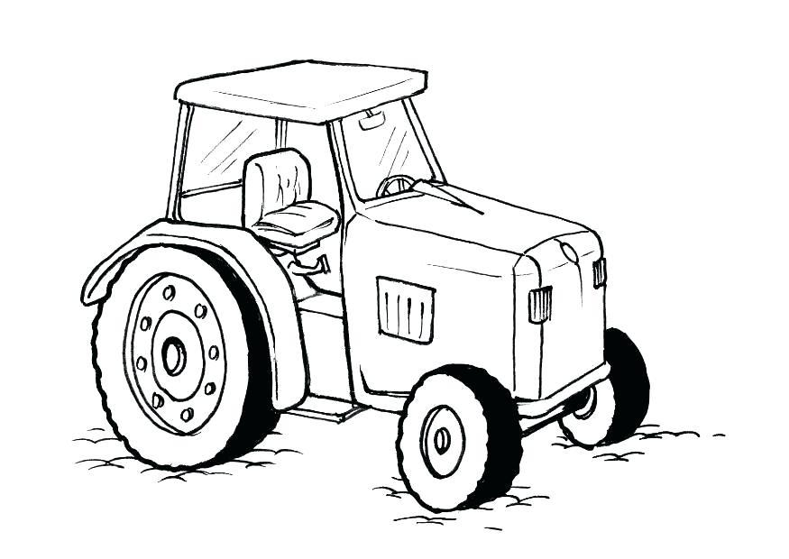 875x620 John Deere Coloring Page Pin Tractor Line Drawing 5 John Deere