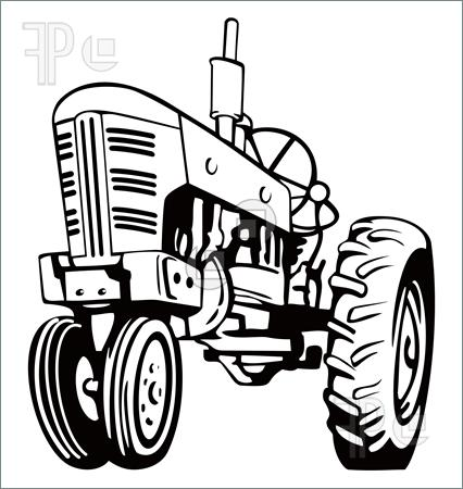 426x450 John Deere Tractor Clipart Black And White
