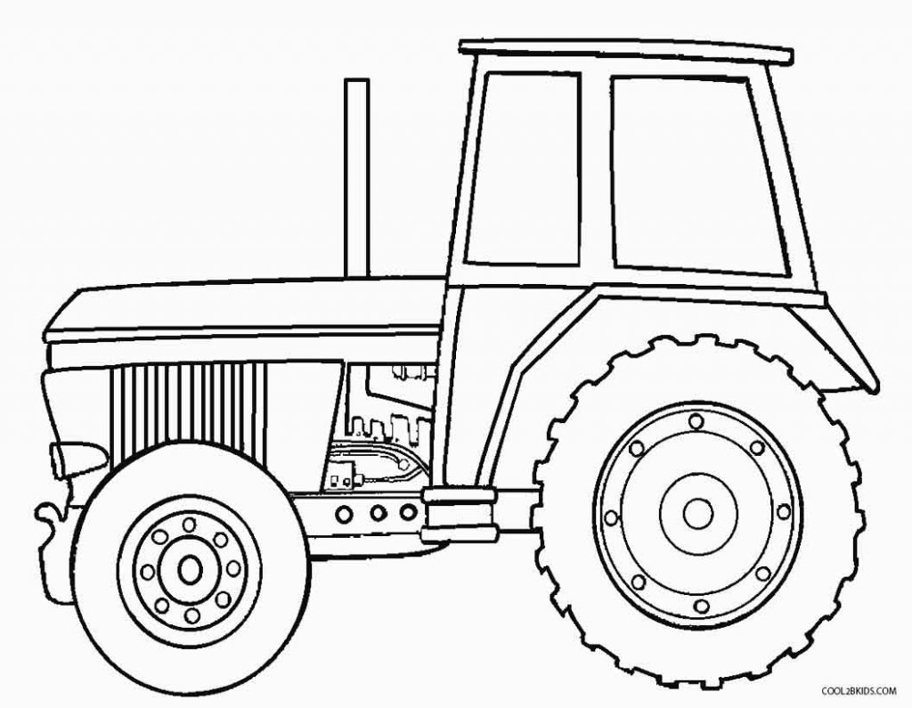 1024x795 John Deere Tractor Coloring Page