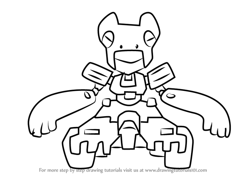 800x567 Learn How To Draw Kono Tractor From Medabots (Medabots) Step By