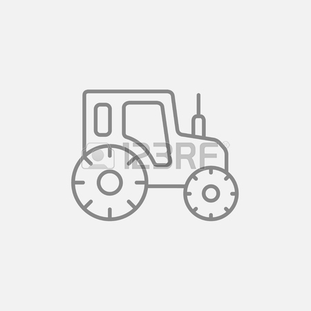 450x450 Tractor Sketch Icon Hand Drawn In Chalk On A Blackboard Vector