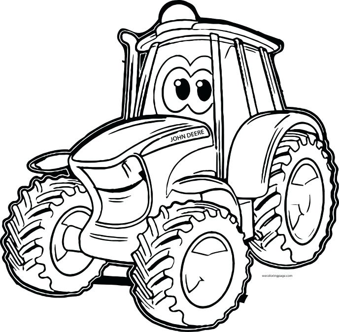 Tractor Line Drawing at GetDrawings | Free download
