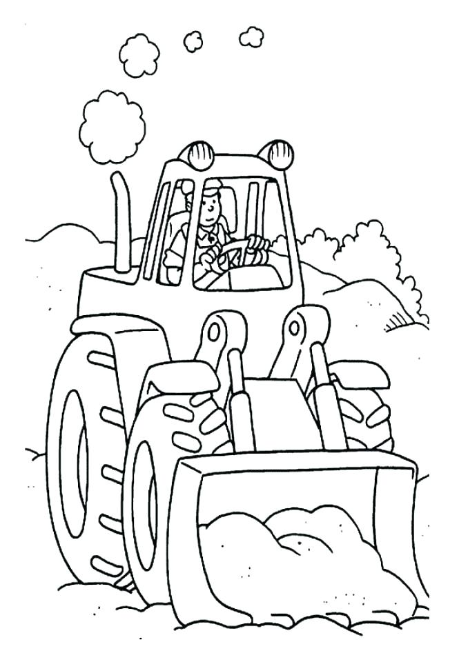 678x960 Free Tractor Coloring Pages