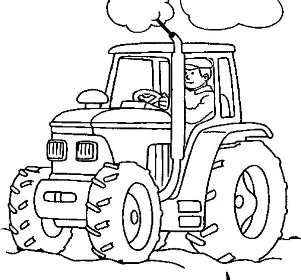 600x558 John Deere Tractor Coloring Page Synthesis.site