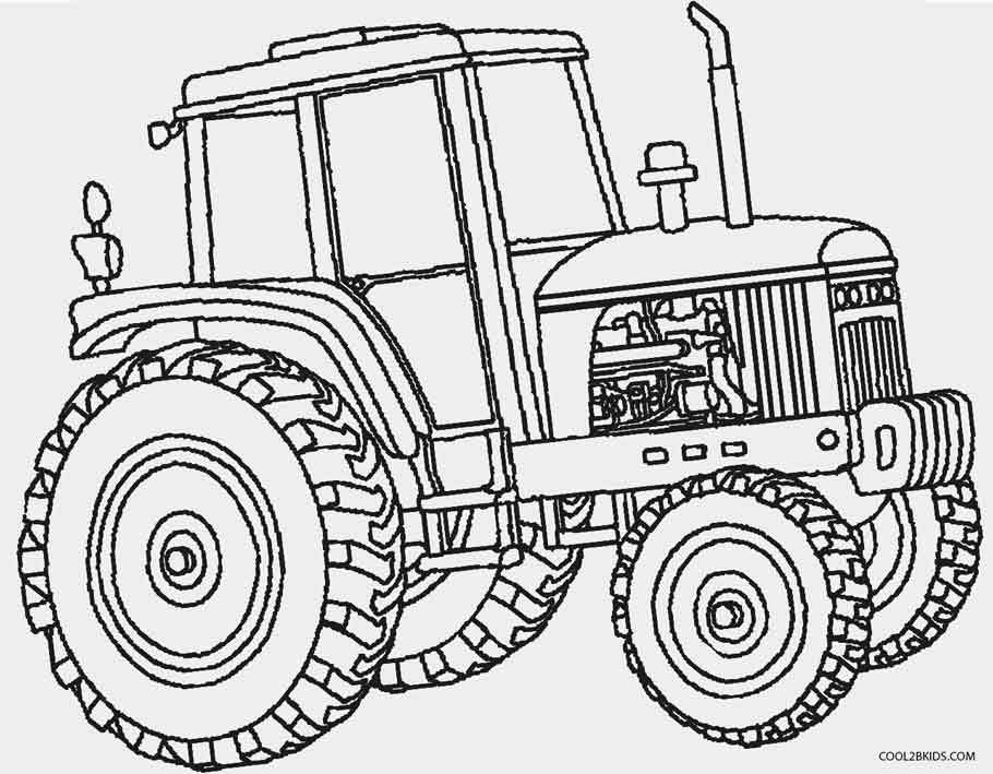 910x709 Coloring Pages Of Tractors