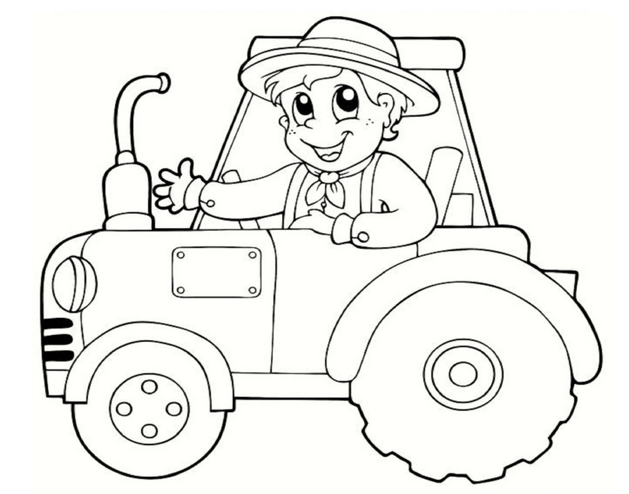 894x702 Free Printable Tractor Coloring Pages For Kids Weekly Colouring To