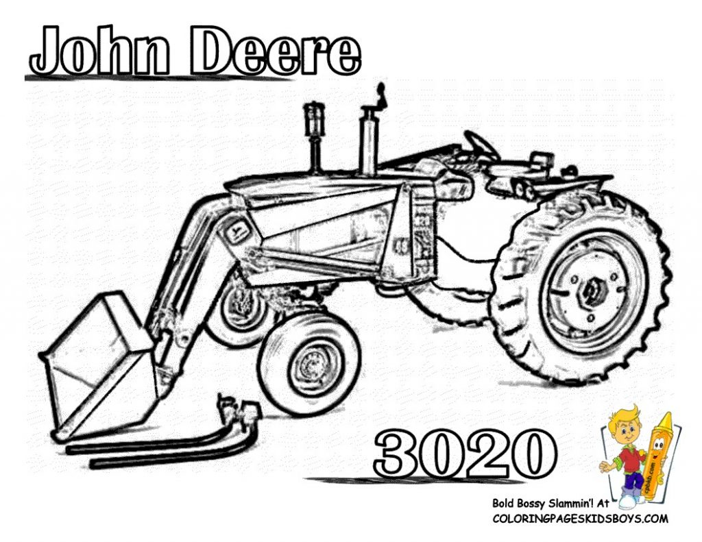 Tractor Outline Drawing