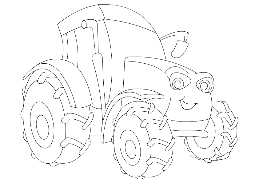 842x595 Free Printable Tractor Coloring Pages For Kids