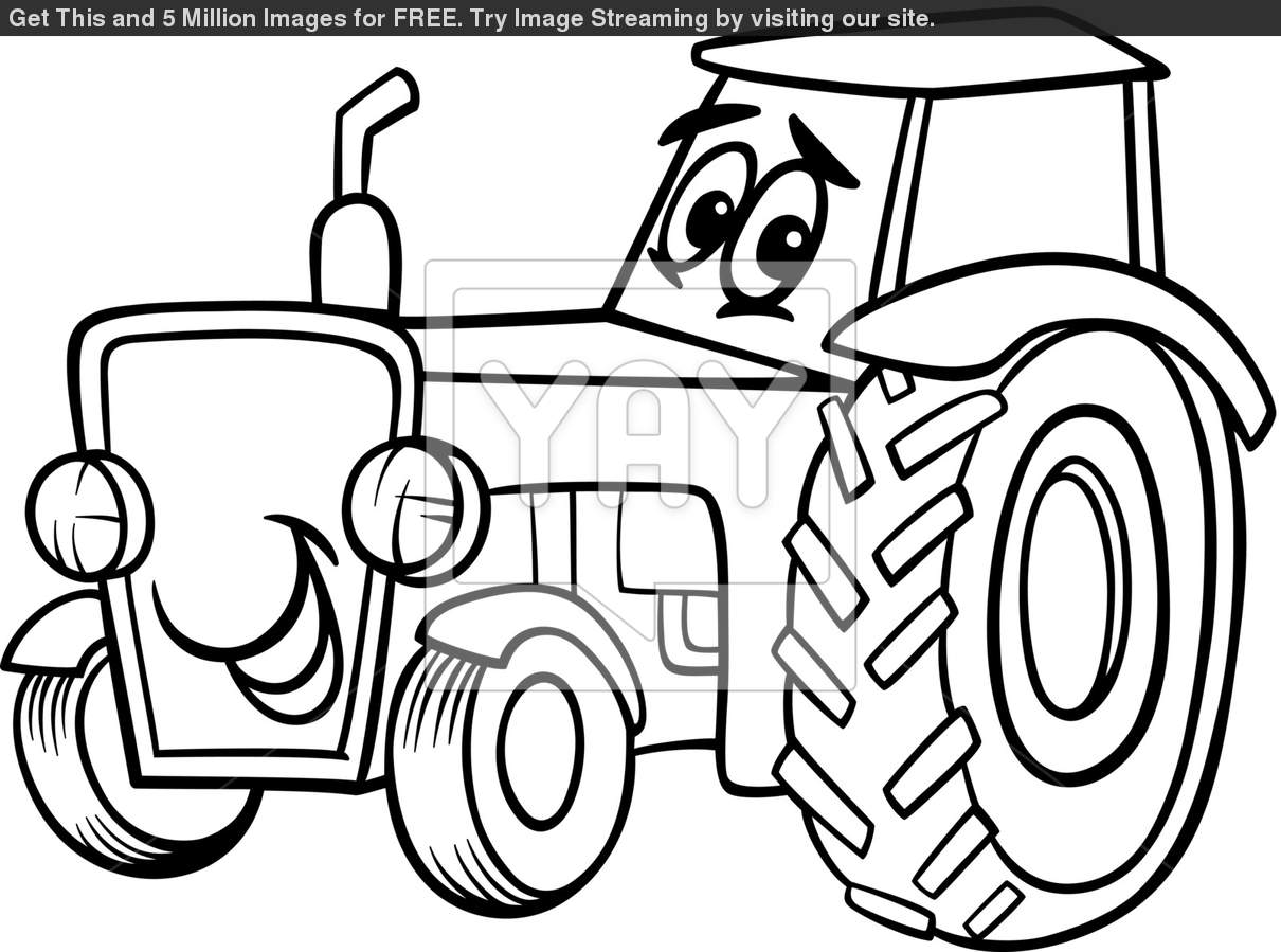 tractor outline drawing at getdrawings com free for personal use