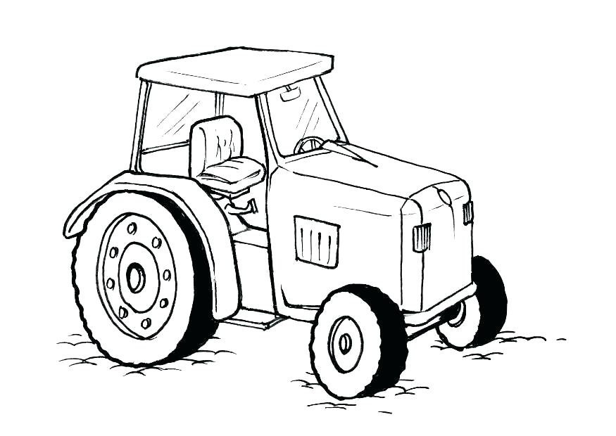 875x620 Ideal Free Tractor Coloring Pages Best