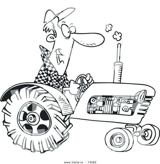 Tractor Outline Drawing at GetDrawings.com | Free for personal use ...
