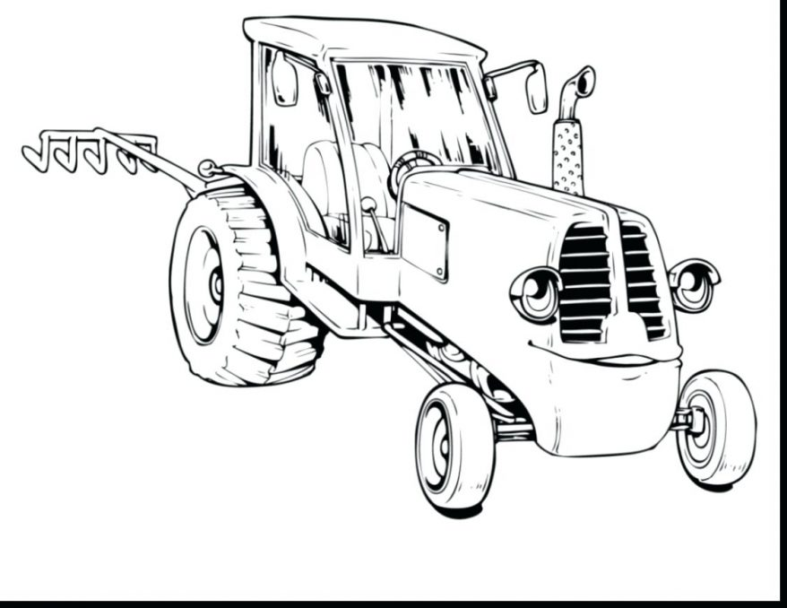 878x678 John Tractor Coloring Pages 154 Extraordinary Tom Pictures Tractor