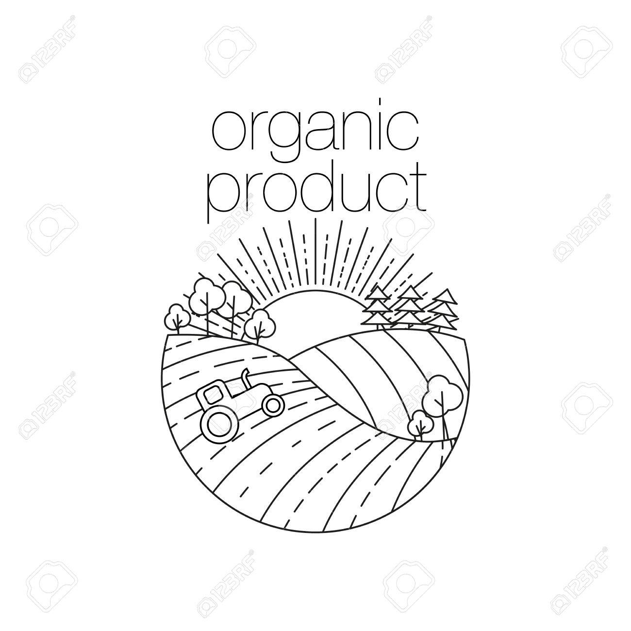 1300x1300 Organic Product Round Outline Icon For Food, Drink And Restaurants