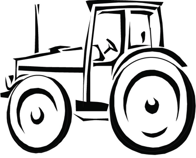 400x322 Simple Tractor Coloring Pages Outline Drawing